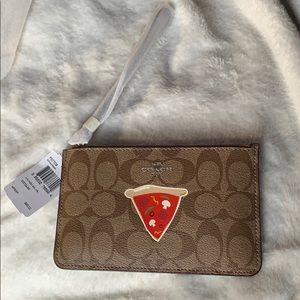 NWT coach pizza slice wristlet